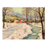 Snow Covered Country Postcard