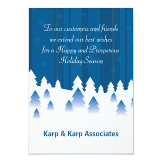 Snow Covered Forest - Personalized Business Holida Card