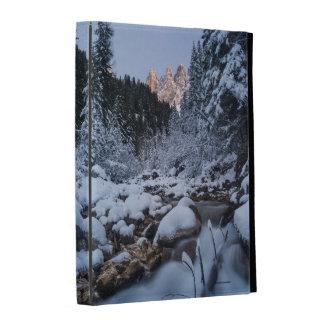 Snow-covered Geisler Mountain Range iPad Folio Cover