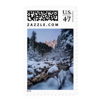 Snow-covered Geisler Mountain Range Postage Stamp