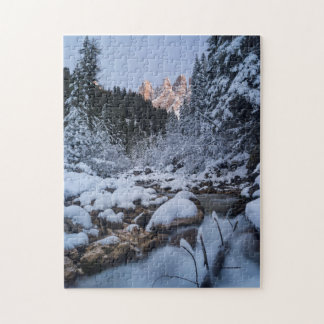 Snow-covered Geisler Mountain Range Puzzle