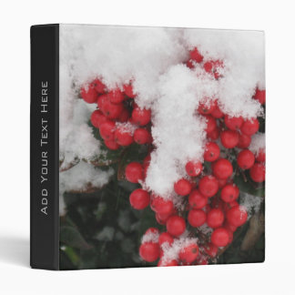 Snow Covered Holly Berry Binder
