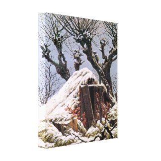 Snow Covered Hut by Caspar David Friedrich Gallery Wrapped Canvas