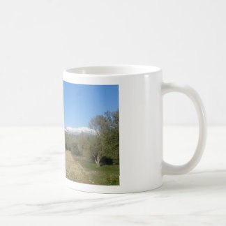 Snow covered Ida Mountains Mug