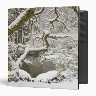 Snow-covered Japanese maple 3 Ring Binder