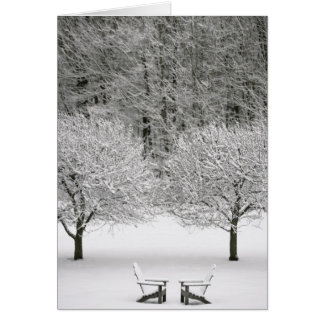 Snow covered landscape card