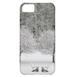 Snow covered landscape cover for iPhone 5C