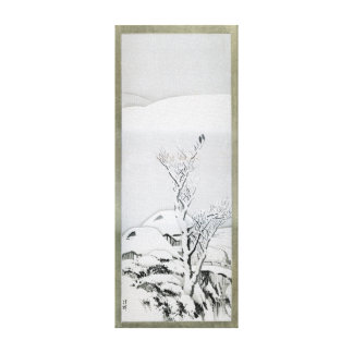 Snow Covered Landscape - Japanese Art Canvas Print