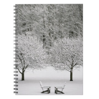 Snow covered landscape notebook