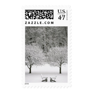 Snow covered landscape postage