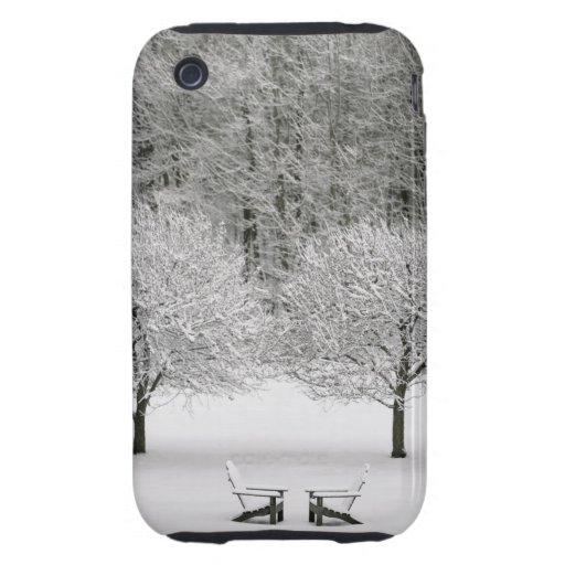 Snow covered landscape tough iPhone 3 cases