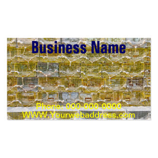 Snow Covered Lobster Traps In Maine Business Card