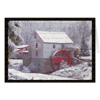 Snow Covered Mill Card