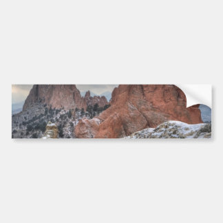Snow Covered Monoliths 01 Car Bumper Sticker