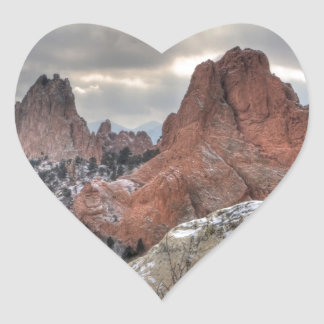 Snow Covered Monoliths 01 Heart Sticker