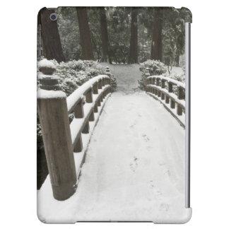 Snow-covered moon bridge, Japanese Garden Case For iPad Air