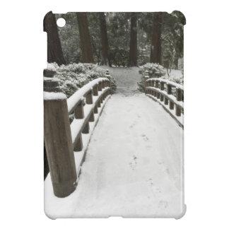 Snow-covered moon bridge, Japanese Garden Cover For The iPad Mini