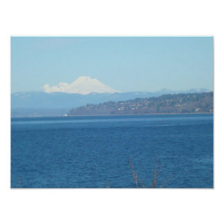 Snow Covered Mount Baker Photo