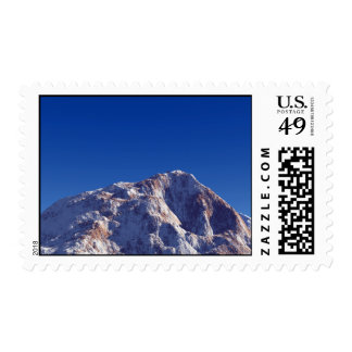 Snow Covered Mountain Against Clear Blue Sky Postage
