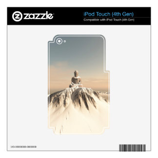 Snow Covered Mountain Buddha Decals For iPod Touch 4G