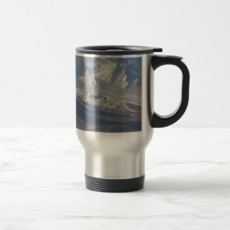 Snow Covered Mountain in the Background Travel Mug