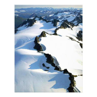 Snow-covered Mountain Peaks - Aerial View Flyer