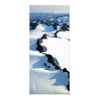 Snow-covered Mountain Peaks - Aerial View Rack Cards