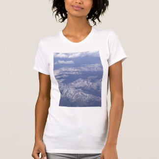 Snow Covered Mountain Peaks by KLM T-Shirt