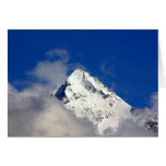 Snow covered mountain tip greeting card