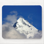 Snow covered mountain tip mouse pad