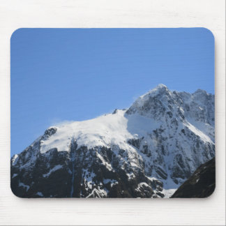 Snow Covered Mountain Top Mouse Pad