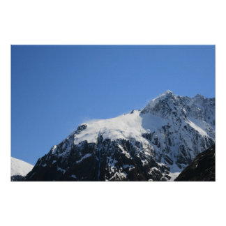 Snow Covered Mountain Top - Poster