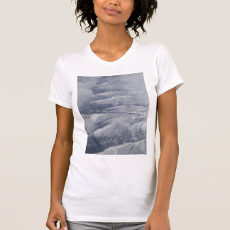 Snow Covered Mountains and Clouds by KLM T-Shirt