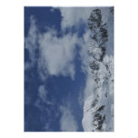 Snow-covered mountains custom invitations
