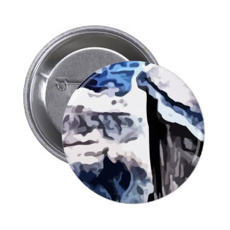 Snow covered mountains painting pinback button