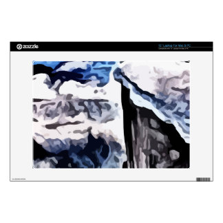 """Snow covered mountains painting decal for 13"""" laptop"""