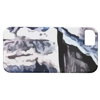 Snow covered mountains painting iPhone 5 covers