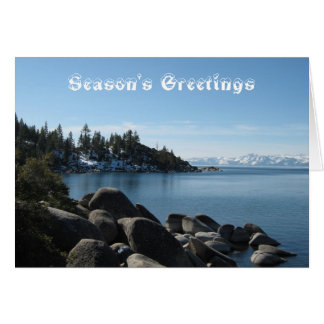 Snow Covered Mountains Scenic Lake Tahoe Christmas Card