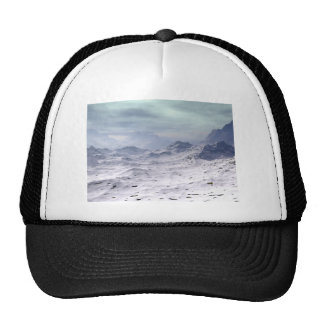 Snow Covered Mountains Trucker Hat