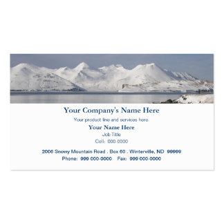 Snow Covered Mountains, Winter Day Business Card