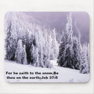 Snow covered mouse pad