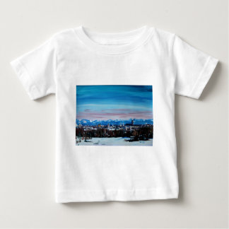 Snow Covered Munich Winter Panorama With Alps Baby T-Shirt