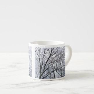 Snow-covered Oak Tree 6 Oz Ceramic Espresso Cup