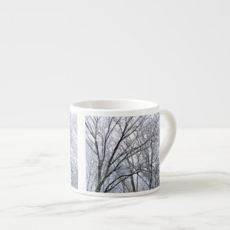 Snow-covered Oak Tree Espresso Cup