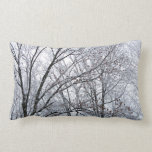 Snow-covered Oak Tree Pillow