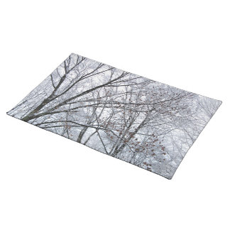 Snow-covered Oak Tree Placemats