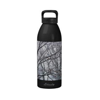 Snow-covered Oak Tree Water Bottles