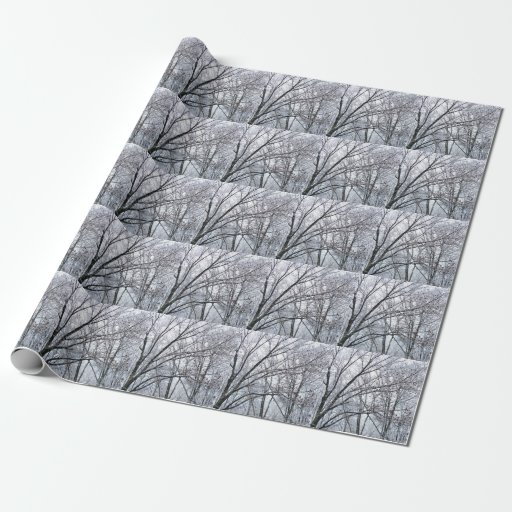 Snow-covered Oak Tree Wrapping Paper