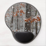Snow Covered Oak Trees Winter Nature Photography Gel Mouse Pad