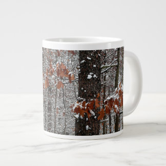 Snow Covered Oak Trees Winter Nature Photography Giant Coffee Mug